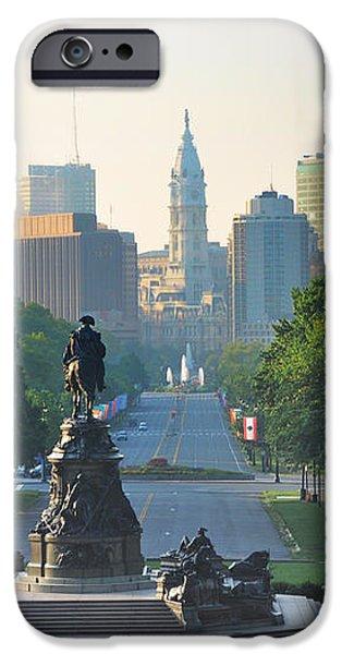 Philadelphia Benjamin Franklin Parkway iPhone Case by Bill Cannon
