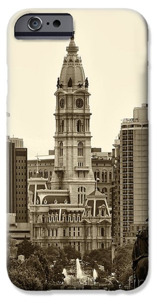 City Scape iPhone Cases - Philadelphia City Hall iPhone Case by Jack Paolini