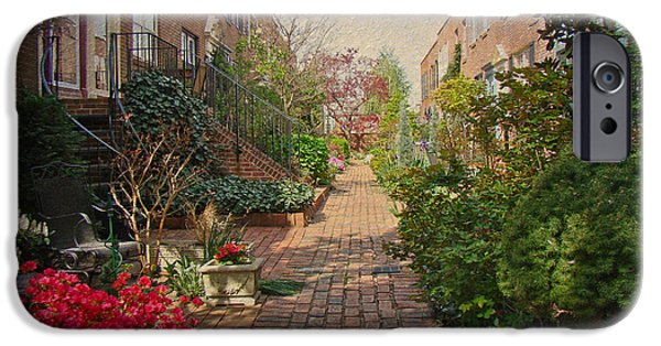 Phillie iPhone Cases - Philadelphia Courtyard - Symphony of Springtime Gardens iPhone Case by Mother Nature