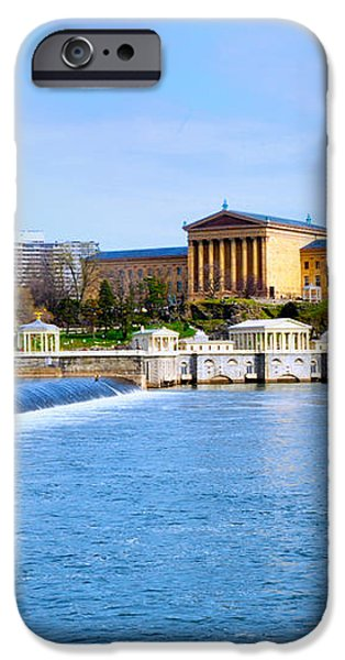 Philadelphia Museum of Art and the Philadelphia Waterworks iPhone Case by Bill Cannon