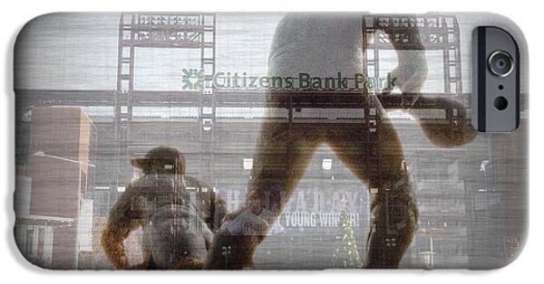 Baseball Stadiums Digital Art iPhone Cases - Philadelphia Phillies - Citizens Bank Park iPhone Case by Bill Cannon