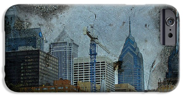 Phillie iPhone Cases - Philadelphia Skyline iPhone Case by Mother Nature