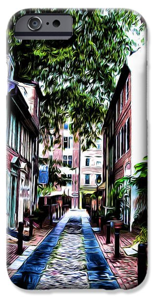Philadelphia's Elfreth's Alley iPhone Case by Bill Cannon