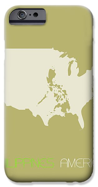 Patriotism iPhone Cases - Philippines America Poster iPhone Case by Naxart Studio