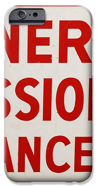 Phillies General Admission Sign from Connie Mack Stadium iPhone Case by Bill Cannon