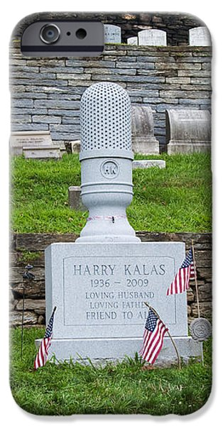 Phillies Harry Kalas' Grave iPhone Case by Bill Cannon