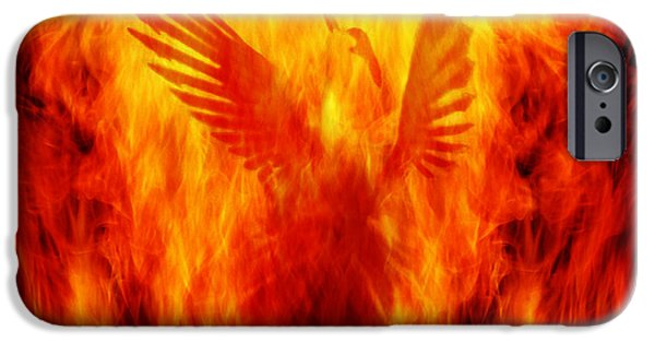 Legend iPhone Cases - Phoenix Rising iPhone Case by Andrew Paranavitana