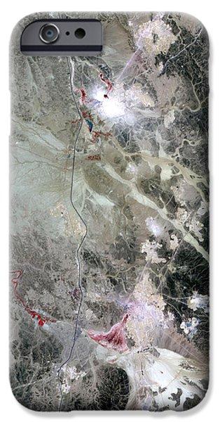 Phosphate Mines, Jordan iPhone Case by NASA