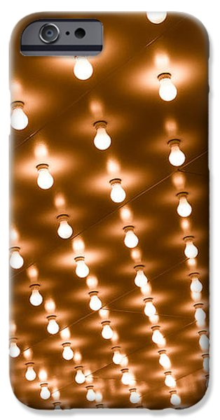 Photo of Theater Marquee Lights iPhone Case by Paul Velgos