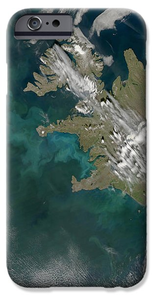 Phytoplankton Bloom In The North iPhone Case by Stocktrek Images
