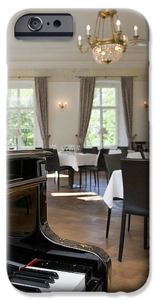 Piano in a Upscale Dining Room iPhone Case by Jaak Nilson