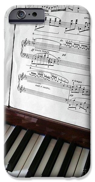 Sheets Photographs iPhone Cases - Piano Keys iPhone Case by Carlos Caetano