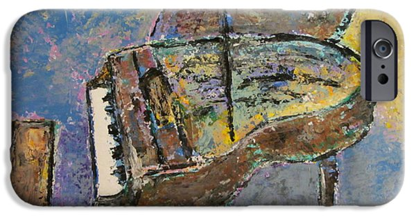 Grand Piano Paintings iPhone Cases - Piano Study 3 iPhone Case by Anita Burgermeister