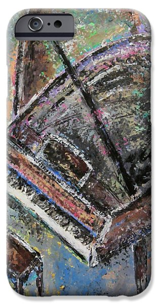 Grand Piano Paintings iPhone Cases - Piano Study 9 iPhone Case by Anita Burgermeister
