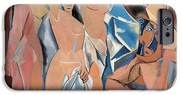 Aod iPhone Cases - Picasso Demoiselles 1907 iPhone Case by Granger