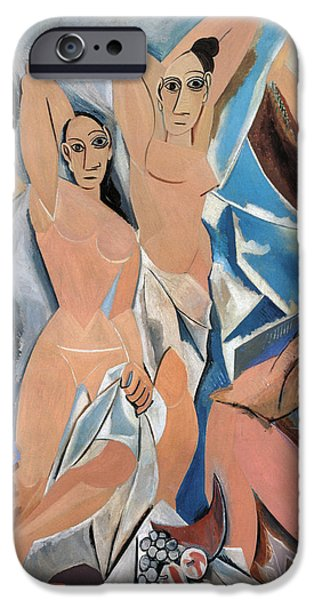 PICASSO DEMOISELLES 1907 iPhone Case by Granger