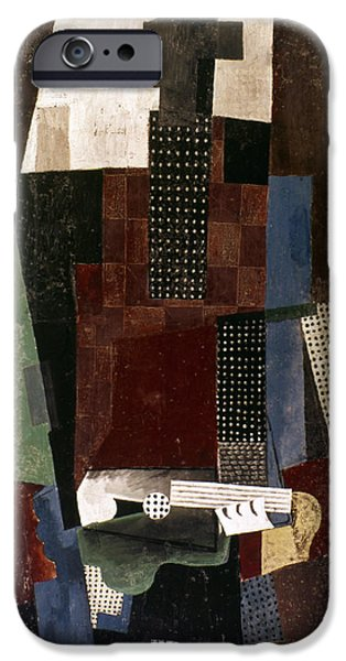 1916 Photographs iPhone Cases - Picasso: Guitarist iPhone Case by Granger