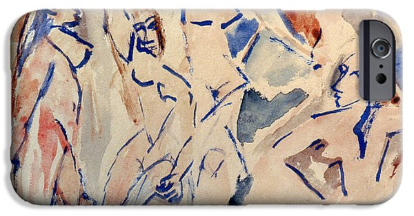 1907 iPhone Cases - Picasso: Les Desmoiselles iPhone Case by Granger