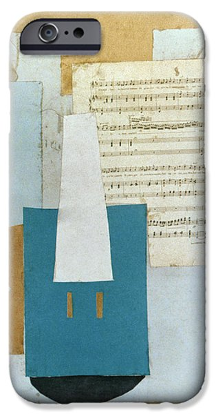 Sheets Photographs iPhone Cases - Picasso: Violin, 1912 iPhone Case by Granger