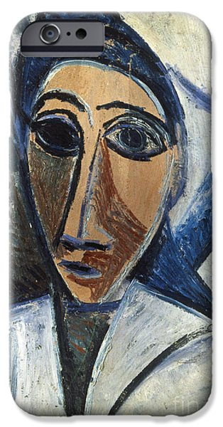 1907 iPhone Cases - Picasso: Woman, 1907 iPhone Case by Granger