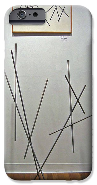 Stainless Steel Sculptures iPhone Cases - Pick Up Sticks and Thunderbird iPhone Case by John Neumann