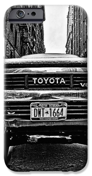 Pick up truck on a New York street iPhone Case by John Farnan