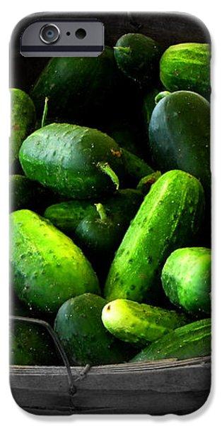 Pickling Cucumbers iPhone Case by Ms Judi