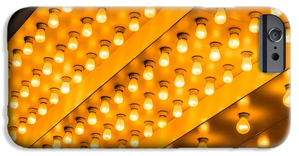 Illuminated iPhone Cases - Picture of Theater Lights iPhone Case by Paul Velgos