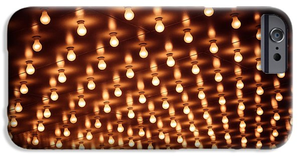 Illuminated iPhone Cases - Picture of Theater Marquee Lights iPhone Case by Paul Velgos