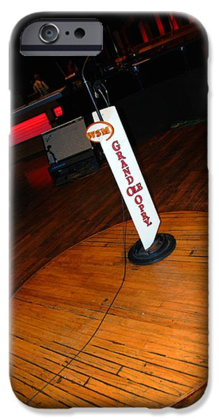 Piece of the original old stage at the Grand Ole Opry in Nashville iPhone Case by Susanne Van Hulst