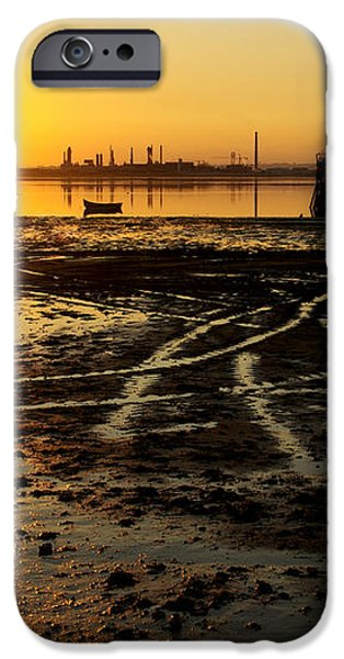 Pier at Sunset iPhone Case by Carlos Caetano
