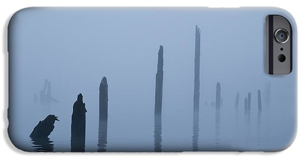 Asymmetrical iPhone Cases - Pier Pilings in Water iPhone Case by David Buffington