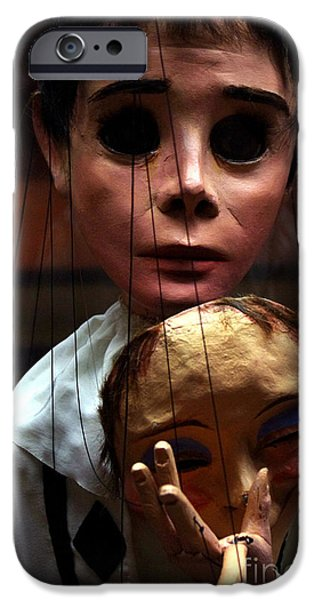 Animation iPhone Cases - Pierrot Puppet iPhone Case by Mona Edulesco