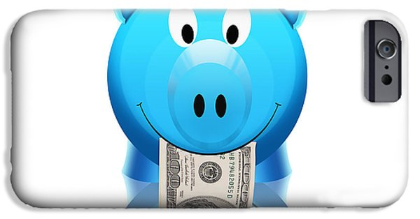Finance iPhone Cases - Piggy Bank iPhone Case by Setsiri Silapasuwanchai