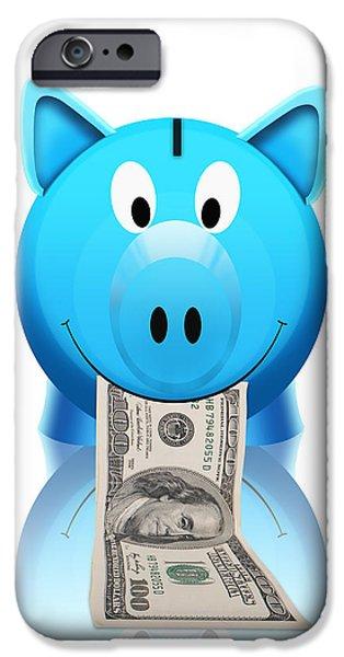 piggy bank iPhone Case by Setsiri Silapasuwanchai