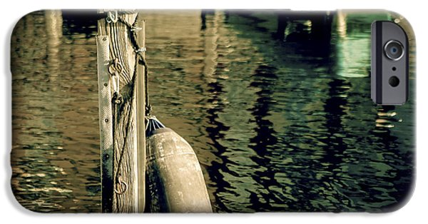 Piles iPhone Cases - Pile Mooring And Fender iPhone Case by Joana Kruse