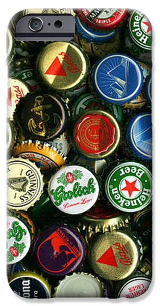 Pile of Beer Bottle Caps . 2 to 1 Proportion iPhone Case by Wingsdomain Art and Photography