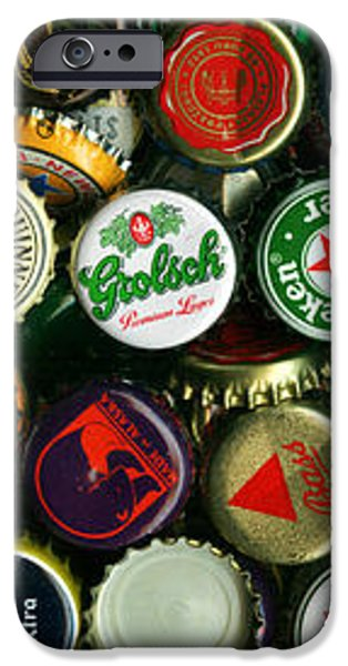 Pile of Beer Bottle Caps . 3 to 1 Proportion iPhone Case by Wingsdomain Art and Photography