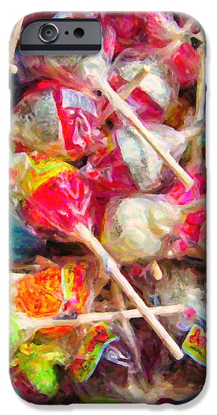 Pile of Lollipops - Painterly iPhone Case by Wingsdomain Art and Photography