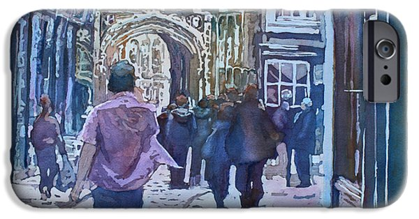 Pilgrims iPhone Cases - Pilgrims at the Gate iPhone Case by Jenny Armitage