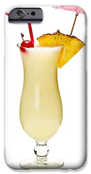 Pina colada cocktail iPhone Case by Elena Elisseeva