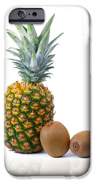 Pineapple and Kiwis iPhone Case by Carlos Caetano