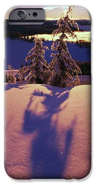 Pink And Purple Sunrise Shadows Of Snow iPhone Case by Natural Selection Craig Tuttle