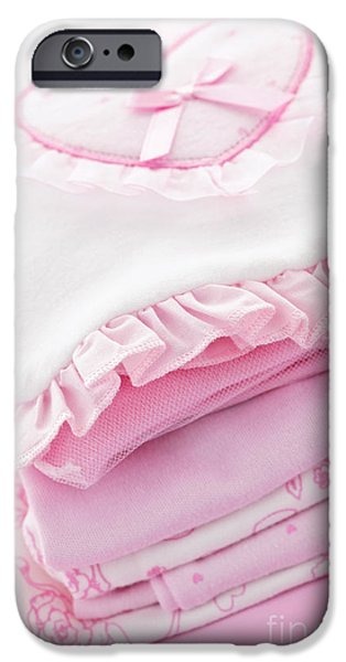 Pink baby clothes for infant girl iPhone Case by Elena Elisseeva