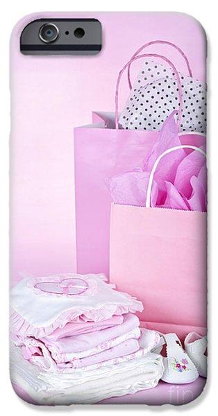 Pink baby shower presents iPhone Case by Elena Elisseeva