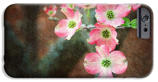 Flora Mixed Media iPhone Cases - Pink Dogwood Cascade iPhone Case by Andee Design