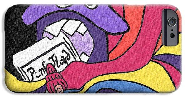 Purple Mushroom iPhone Cases - Pink Floyd 8 Track Trip iPhone Case by Jera Sky