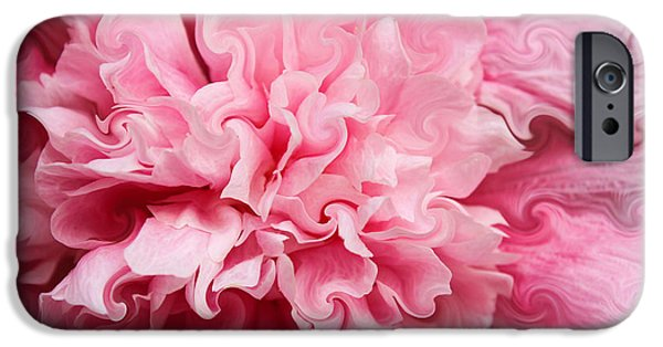 Hollyhock iPhone Cases - Pink iPhone Case by Kristin Elmquist