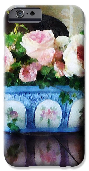 Pink Roses and Ivy iPhone Case by Susan Savad