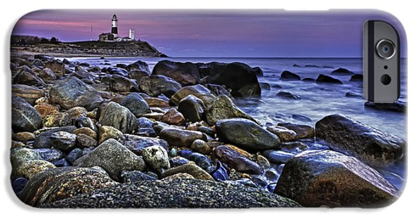 Clouds Photographs iPhone Cases - Pink skies at Montauk Point iPhone Case by Rick Berk
